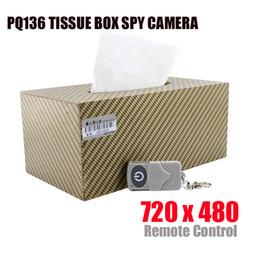 Wholesale Camera Control Box Dvr - 32GB memory built-in New Design Tissue Box hidden Camera DVR with Motion Detector Video Recorder and Remote Control spy camera
