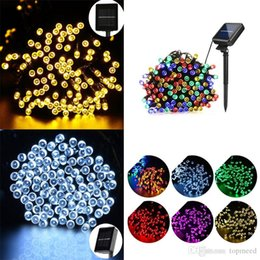 Wholesale Diy Ball Lamp - Christmas lights 100 LED 200 LED Outdoor 8 Modes Solar Powered Strings Light Garden Christmas Party Fairy Lamp led strings lamps 10M 22M