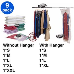 Wholesale Clothes Hangers Wholesale Free Shipping - FREE SHIPPING! 9 pcs of (50x60, 60x80, 68x98, 70x100, 80x120, 90x60, 110x60, 105x70 and 145x70) Vacuum bag with without Hanger