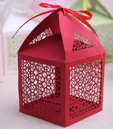 Wholesale Cheap Candy Paper Box - In Stock Cheap Price Chinese Style Candy Box Wedding Favor Boxes Gift Candy Box free shipping