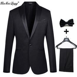 Wholesale Groom Suits For Weddings - 2016 Wedding Suits For Man Fashion Tuxedos Tailcoat Men Suit With Pants Male Groom Jacket+Pant+Tie