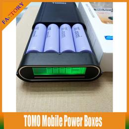 Tomo do banco de energia on-line-10 PCS 18650 TOMO V8-4 Móvel Banco De Potência Boxes 4 Slot 18650 Carregador De Bateria Para 4x VTC3 VTC4 VTC5 AW 18650 Bateria Para Samsung S4 S5 telefones