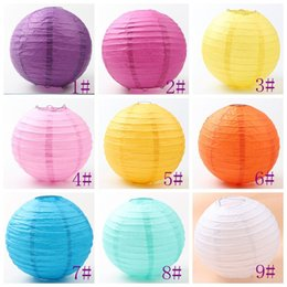 Wholesale Decoration Series - 9colors MIC Fashion White Chinese Paper Lantern 8'' Wedding Party Home Decorations 20cm Hot sell Items