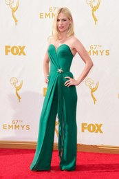 Wholesale Sexy Jumpsuit Prom - 67th Emmy Awards Celebrity Dresses Jumpsuit January Jones In Sweetheart Prom Gowns Carpet Graceful Evening Dress