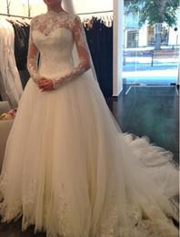 Wholesale White Tube Top Lace - Top selling Vestido de noiva A Line 2015 Wedding dresses Tube top Luxurious Long sleeve Lace Wedding dresses 2015 Robe De Mariage