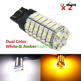 double t5 Promotion 7740 7743 1156 1157 Switchback led 3528 smd t20 120 SMD Commutateur LED Retour Couleurs doubles 80leds Amber 40leds LED blanche