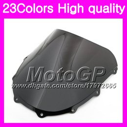 Wholesale Zx7r 1997 - 23Colors Windscreen For KAWASAKI NINJA ZX7R 96 97 98 ZX-7R ZX750 ZX 7R 1996 1997 1998 1999 Chrome Black GPear Smoke Windshield