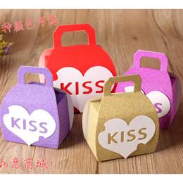 suministros para fiestas Rebajas Amor corazón boda beso caja de dulces favores de la boda caja de paquete de regalo centro de mesa artículos de fiesta abrigo de regalo de moda 50pcs / lot CK214