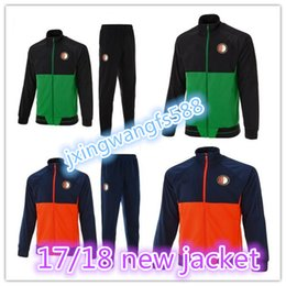 Wholesale Top Quality Jackets - top Quality Soccer Jersey jacket 2017 2018 Feyenoord tracksuit kits Kuyt Lex VILHENA Simon maillot de foot 17 18 home away tracksuit sets