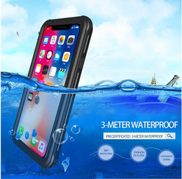 Wholesale Rear Light Covers - OL series Redpepper Waterproof Case For Iphone X 8 7 6S Plus 5S 5C with soft TPU rear clear cover