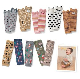 Wholesale Baby Toppers - 2016 Spring 10 Color Baby Leg Warmers Kneepad Boot Crochet Cartoon Leg Warmers Boot Cuffs Boot Toppers for Kids Winter Warm Boot Socks K6328
