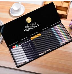 Wholesale Watercolor Pencil Sets - Professional Wooden Colored Artists Pencils Drawing Watercolor Metallic Charcoal for Adults Premium Set of 60 Pencil Art Tin Box
