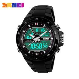 Wholesale Diver Clock - New 2015 Men Sports Watch Clock 50M Waterproof Dive Swim Fashion Digital Watch Military LED display Multifunctional Wristwatches