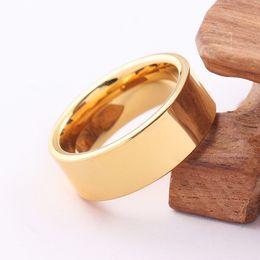 Wholesale Mens Tungsten Gold Wedding - mens wedding bands tungsten carbide 8mm gold carbon fiber inlayed hi-tech scratch proof wedding tungsten ring