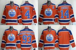 Лучшие цены на хоккейный джерси онлайн-2015 новые оптовые мужские Edmonton Oilers #4 hall#14 eberle#93 nugent-hopkins Blank orange Ice Hockey Jerseys,лучшее качество,низкая цена