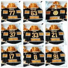Wholesale Rays Hoodie - 2016 New, Old Time Hockey Hoodies Jersey #17 Milan Lucic #77 Ray Bourque Sweatshirts Jersey 254