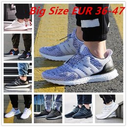 Wholesale Mens Light Blue Canvas Shoes - Big Size Ultra Boost 2.0 3.0 4.0 UltraBoost mens running shoes sneakers women Sport Tri-Color NMD R2 CNY Snowflake Core Triple Black White