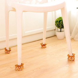 Wholesale Round Chair Cushions - Wholesale- 4 PCS set New Non-slip Table And Chair Mats Shackle Tables Feet Thick Cushions Chair Leg Protector