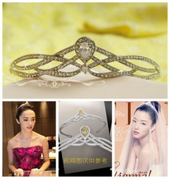 Wholesale Hair Stones - Chen Yao, the bride crown high-end jewelry exquisite simplicity hair ornaments crystal jewelry wedding accessories zirconium stone