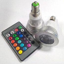 Wholesale Cheap Remote Led Light Bulb - Cheap brand 100-240V 5W GU10 E27 RGB led lamp Color Change LED RGB Light Bulb with Remote Control