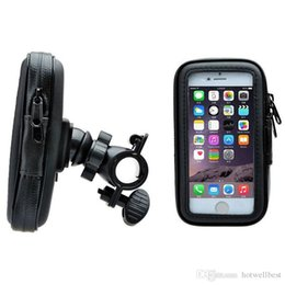 Wholesale Gps Case Bike - Wholesale Bike Mount Motocycle Holder Bicycle Waterproof Zipper Leather Case for gps cell phones middle size new