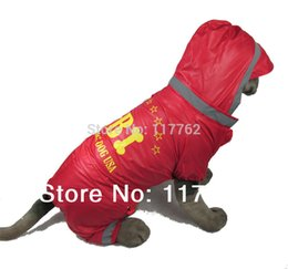 Wholesale Raincoat Dog Red - Wholesale-New Red Medium and Big Dogs Pet Dogs Raincoat Free Shipping Dogs Clothes large dogs clothing
