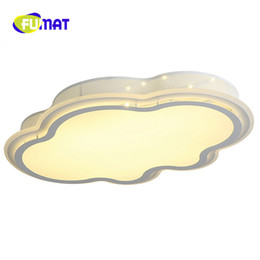 Wholesale Led Lamp Shades - FUMAT LED Cloud Ceiling Lights Toilet Light Creative Modern Three Shades Of Lamp luminaria nuvem abajur para quarto