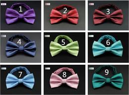Wholesale Double Color Bowtie - NEW Fashion Arrival Wedding Double solid color Bowties Men's Ties Men's Bow ties Men's Ties Many Style Bowtie Groom bowtie groom bowtie R02