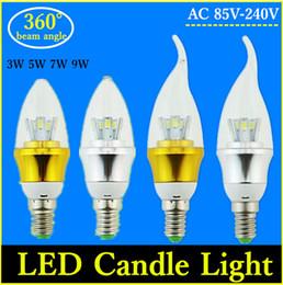 Wholesale E14 Candle Led 7w - 10X 2835 Cree SMD 5730 Bombillas LED E27 Bulb Candle Lights Lampada LED Lamp E14 220V Lamparas E14 Luz White Warm White Spot Light