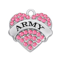 Wholesale Military Charms - Free shipping New Fashion Easy to diy 3pcs a lot military series army DIY charm four color crystals jewelry making fit for necklace or brace