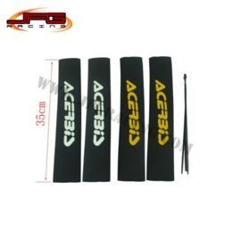 Wholesale Dirt Bike Shock Absorber - Free Shipping Acerbis Front Fork Shock Absorber Cover Protector Guard Wrap Cover Set For Pit Dirt Bike Motorcycle Motocross M53501