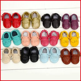 Wholesale Kind Baby Shoe - 2015 New Fashion Baby Shoes First Walker Cow Genuine Leather Fringe Baby Moccasins Kinds Boys Girls Shoes Free Shipping