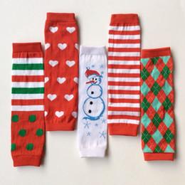 Wholesale Kids Leggings Sale - Christmas 2015 children Christmas cute red stripe heart red Snowman Leg Warmers kids leggings adult arm warmer hot sale good quality 12Pair