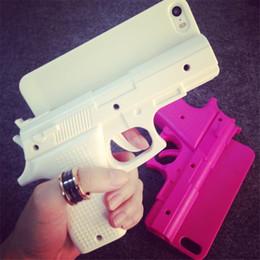 "Wholesale Pistol Handgun Case - 3D Cool Toy Handgun Phone Case For Apple iPhone 6 4.7"" 6 Plus 5.5 inch 5 5S Pistol Hard PC Cover"