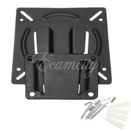 "Wholesale Tv Wall Mounts Free Shipping - Free Shipping New Black Wall Mount Holder Bracket for 10""-23"" Inch Flat Panel Screen LCD LED Display TV Monitor Wholesale"