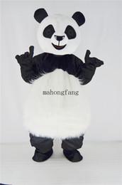 Wholesale Cute Mascot Costumes - Cute Giant Panda Mascot Costume Animal Panda Bear Cartoon Character Fancy Dress for Halloween