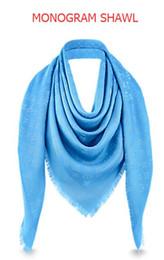 Wholesale Gradient Georgette Scarf - Black L Brand Check Wool Cotton Cashmere Silk Scarves Scarf Wrap Shawl Pashmina 140x140cm