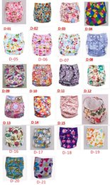 Wholesale Baby Colorful Diaper Covers - 2015 new Cartoon Animal Baby Diaper Covers AIO Cloth nappy TPU Cloth Diapers Colorful Zoo 21 color