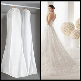 Wholesale Garments Clothes - Fast Shipping 1.8M Storage Bag Garment Bags for Dresses Clothes Wedding Dress Dust Cover Home Storage Bag Space Saver