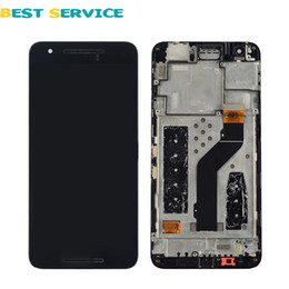 Wholesale Nexus Replacement Display - Wholesale-For Huawei Google Nexus 6P LCD Display with Touch Screen Digitizer Frame Assembly Black Color Replacement Parts Free Shipping
