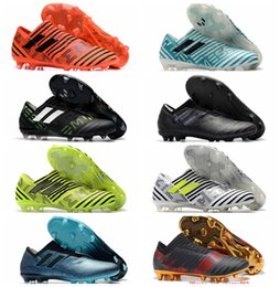 Wholesale Golden Soft - 2018 original soccer cleats Nemeziz 17 360 Agility FG mens soccer shoes cheap leather football boots low top scarpe da calcio Golden New