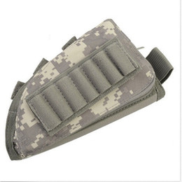 Wholesale Zipper Magazine - tactical rifle shotgun buttstock cheek rest rifle stock ammo shell nylon magazine molle pouch holder