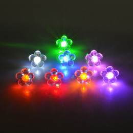 Wholesale flower shape led light - Stud Earrings Wholesale Flower Shape LED Earring Light Up Bling Ear Studs Earrings Dance Party Channel Earrings