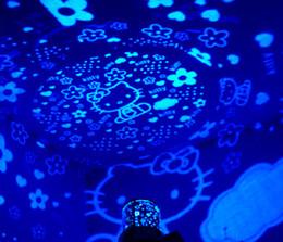 Deutschland Hallo KITTY Flash LED Nachtlicht LED Ozean Expert Sterne Projektor Lampe Universum Laser Für Weihnachtsdekoration Kinder Spielzeug Geschenk Mix Auftrag 6 STÜCKE Versorgung