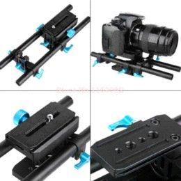 Wholesale 5d Matte Box - Free Shipping Fotga DP-500 DP500 DSLR rail 15mm rod support system for matte box 5D 2 + Quick Release Plate