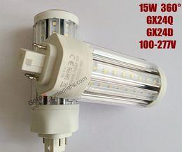 Wholesale Plc Corn - led g24q- 2 light 15W 100-277V 3 years warranty shenzhen led lights gx24q-3 led plc 4 pin Fedex free shipping
