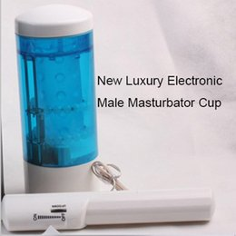 Wholesale Vibrating Electronic Toys - Wholesale-New Electronic Male masturbator oral sex masturbation Cup Simulation female mouth vibrating masturbation Cup sex toys for men