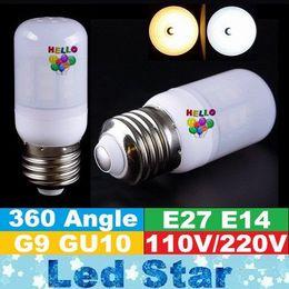 Wholesale E27 Led Dhl - DHL free Shipping 7W 12W 15W 18W 20W 21W Led Corn Bulbs Light GU10 E27 E14 G9 Led Spotlights ac 110-240V CE UL