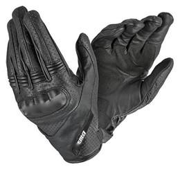 Новые существенные перфорированные кожаные перчатки короткие летние перчатки мотоцикла от Поставщики короткие перчатки мотоцикла