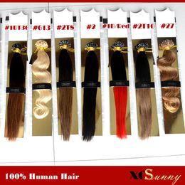 "Wholesale Nail U Tip Hair - XCSUNNY 18"" 20"" U Tip Fusion Hair Extension 100g Bright Color Nail U Tip Hair Extensions Keratin Fusion U Tip Hair Extensions"